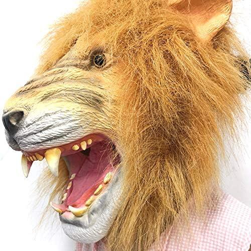 LMLZHENG Cabeza de león Furiosa, Novedad Halloween Disfraz Fiesta ...