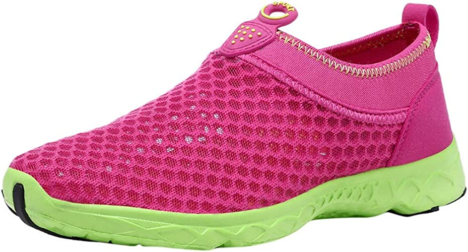 Moonker Ladies Slip On Sneakers Wide Width Walking Shoes Women Outdoor Mesh Lightweight Breathable Comfortable Shoes