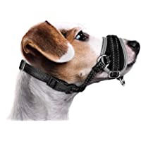 AutoWT Dog Muzzle for Large Dogs, Nylon Dog Mouth Cover Adjustable Soft Padded Quick Fit Comfortable Muzzles for Medium…