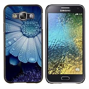 """Be-Star Único Patrón Plástico Duro Fundas Cover Cubre Hard Case Cover Para Samsung Galaxy E5 / SM-E500 ( Blue Mist naturaleza de la flor de belleza lindo"""" )"""