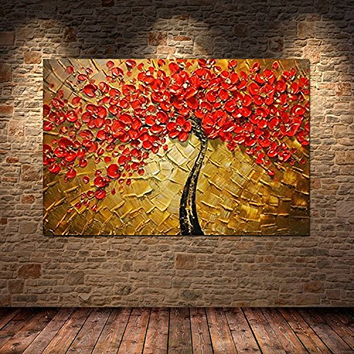 H cozy art modern abstract canvas wall art textured palette knife canvas oil paintings for home decoration oil painting ft212 no frame amazon co uk