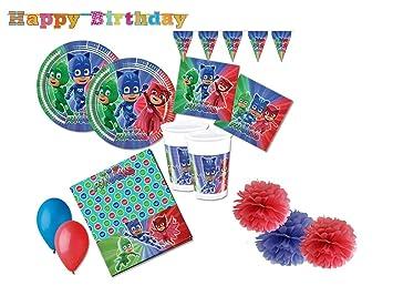 Verbetena PJ Masks coordinó Mesa de cumpleaños Kit 46f ...