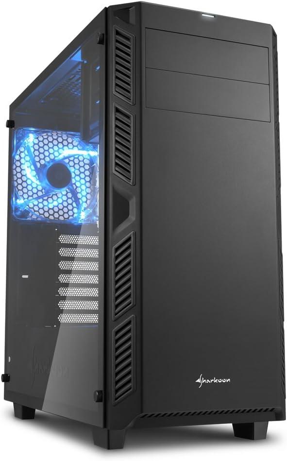 Blue Sharkoon AI7000 Glass ATX MIDI Tower Case