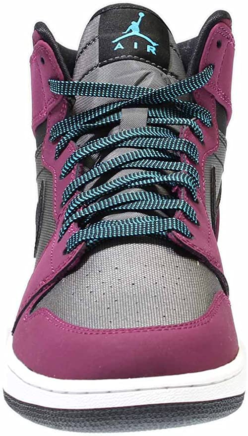 separation shoes 65981 ff1b8 Amazon.com: Nike 332148-505: Air Jordan Retro 1 (GG) Mulberry/Blue Girl  Gradeschool Size 8.5: Sports & Outdoors