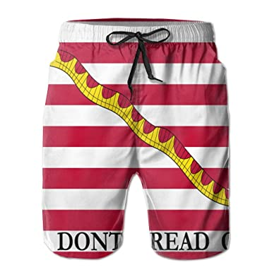 f602ad777c Dont Tread On Me Snake Mens 3D Printed Board Shorts Cool Beach Swim Shorts  Swim Trunk at Amazon Men's Clothing store: