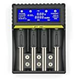 Anself Carregador de bateria multifuncional 18650 Bateria de íon de lítio Níquel Hidreto de metal Níquel Cádmio AA AAA 9V Car