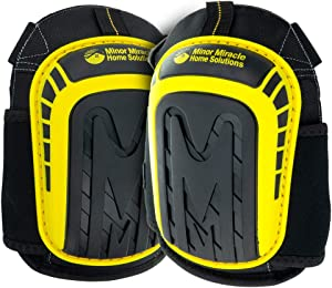 Premium Knee Pads For Seniors, Men and Women (Knee pad for Work, Gardening, Construction & Flooring) Extremely Comfortable, Heavy-Duty Kneepads. W/Buckle Clips & Velcro Straps to Stay in Place.