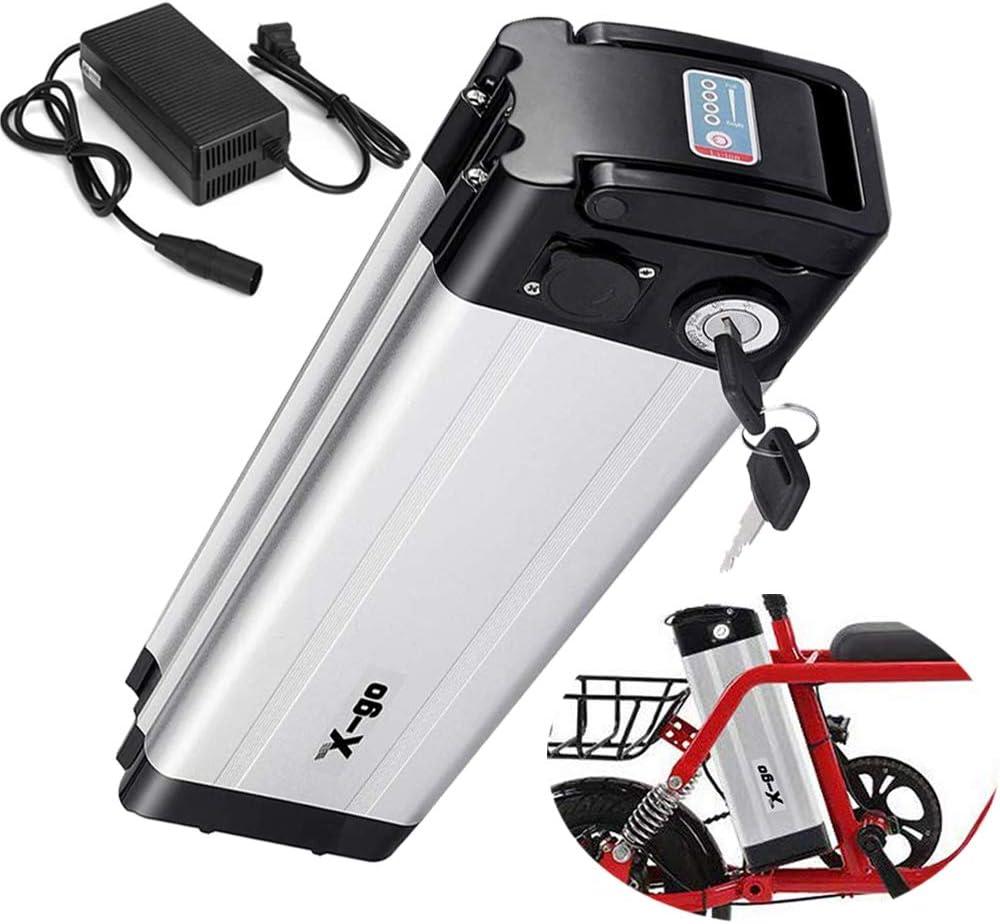 X-go Bateria Bicicleta Electrica BateríA Bicicleta EléCtrica 36V 10AH Adecuado para Motor De 350W ,Cargador(Tablero de Protección de BMS): Amazon.es: Deportes y aire libre