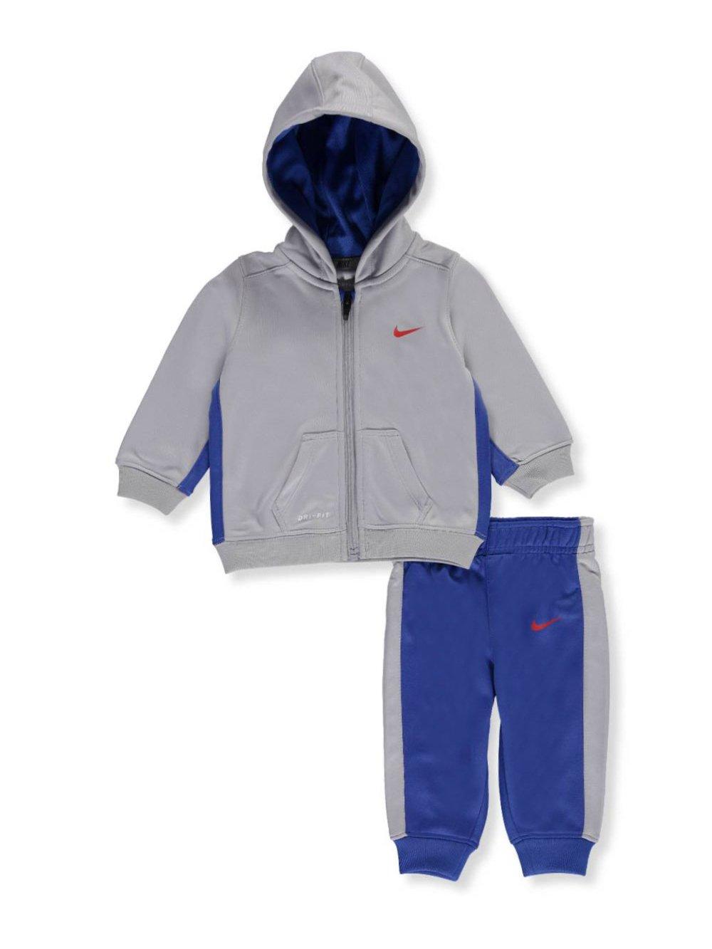 Nike Baby Boys' 2-Piece Therma Dri-Fit Sweatsuit - royal blue/gray, 6 - 9