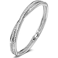 Susan Y ♥ Waltz of Love ♥ Cross Crystal Bracelet with Crystal Best Gift for Women Girls
