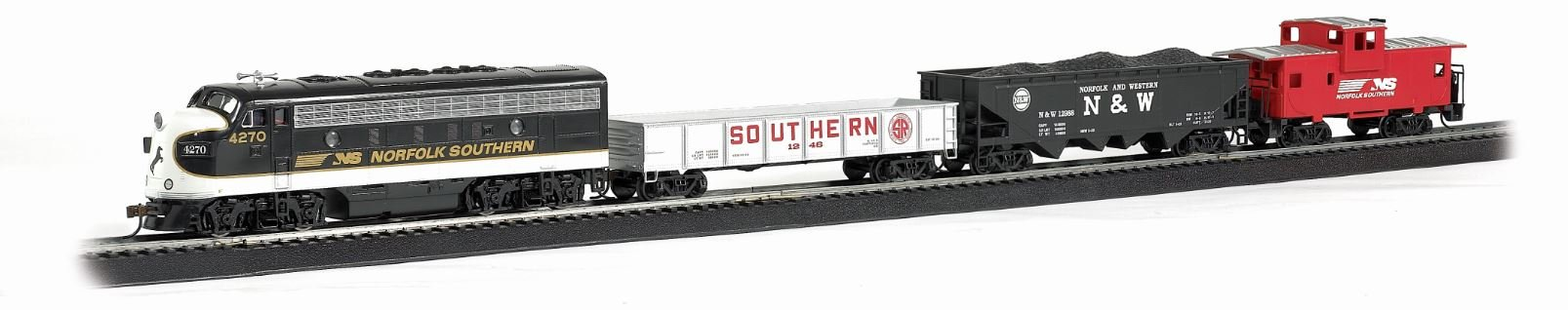 Bachmann Trains - Thoroughbred Ready To Run Electric Train Set - HO Scale by Bachmann Trains