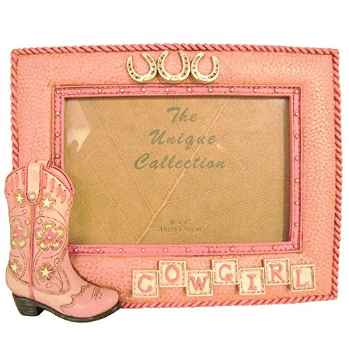 Western Decor Frames: Pink Boot Photo Frame Picture Western Cowgirl Western