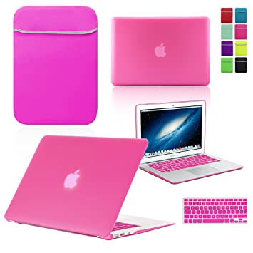 Love My Case / Bundle Hot Pink Hard Shell Case with Matching Keyboard Skin and Neoprene Sleeve ...