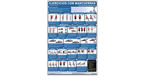 Ejercicios con Mancuernas - Hombros y Brazos - Cartel - Dumbbell Exercises - Shoulders and Arms Spanish Edition CDS-SP Poster by Andre Noel Potvin ...
