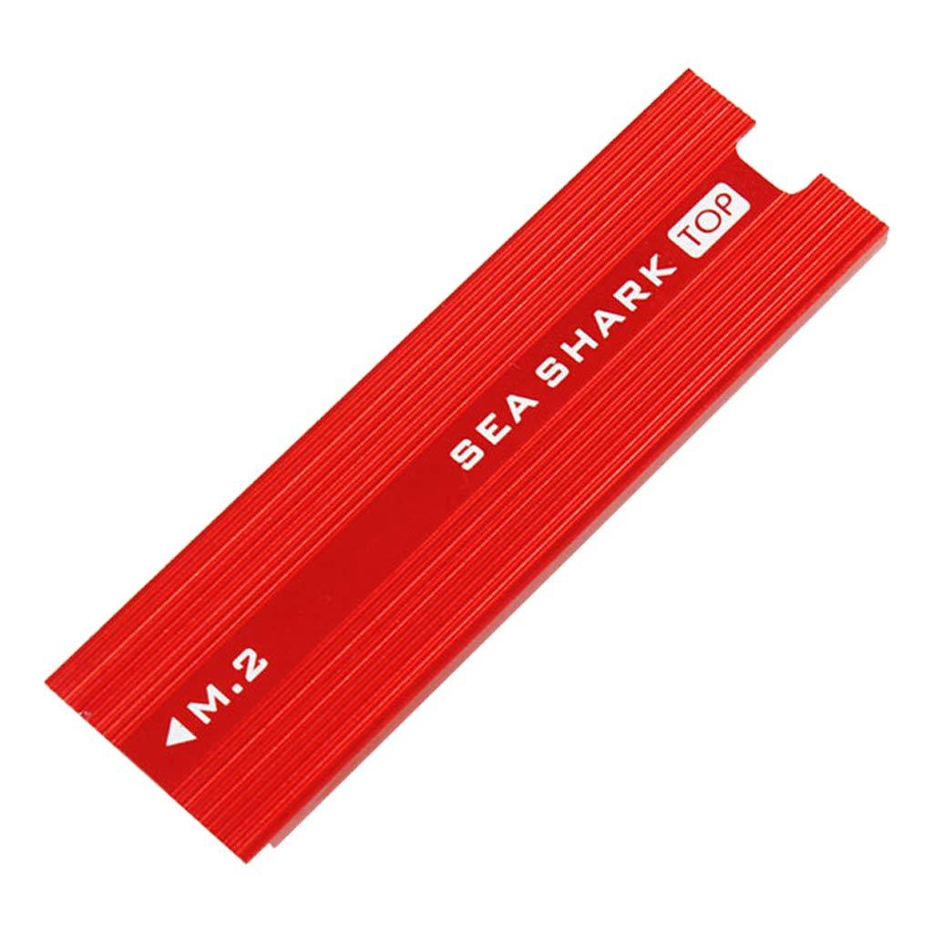 Almencla 2 Pieces Heat Sink Dissipation Plate Slim Design Lightweight Aluminum Cooling Pad Heatsink for M.2 NGFF NVMe 2280 SSD Easy Installation