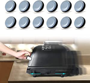 AIEVE Kitchen Appliance Sliders - Easy Moving & Saving Space - 12Pcs Adhesive Magic Telfon Self Stick Sliders Compatible with Most Coffee Makers, Air Fryers, Pressure Cooker, Blenders and More (DIY)