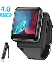 AGPTEK Clip MP3 Player with Bluetooth, 16GB Sport Bluetooth MP3 Watch for Running, Jogging, Cycling, Hiking Support FM Radio, Vioce Recorder and Stopwatch for Kids and Adults
