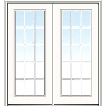 National Door Company Z029809L Fiberglass Smooth, Primed, Left Hand  In Swing, Exterior