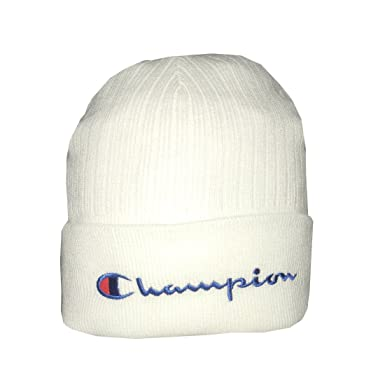 6b8d9d7a881df Champion Adult Ski   Skate Roll Up Knit Beanie Winter Hat White ...