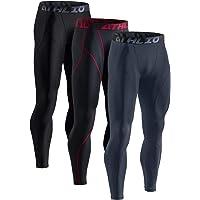 ATHLIO Men's Thermal (Pack of 1, 3) Emboss PantsWintergear Compression Baselayer Sports Leggings