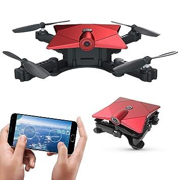RCDNE Pocket Drone, Plegable Mini Nano Drone FPV RC Quadcopter con ...