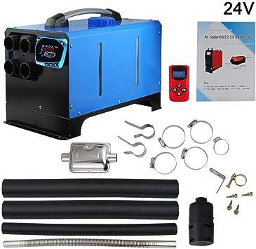 Schalld/ämpfer Ksruee 5KW 12V// 24V Diesel Luftheizung Fernbedienung Fahrzeugheizung Diesel Lufterhitzer 4 L/öcher LCD Monitor Thermostat Air Standheizung Auto Heizung mit LCD-Schl/üssel Schalter