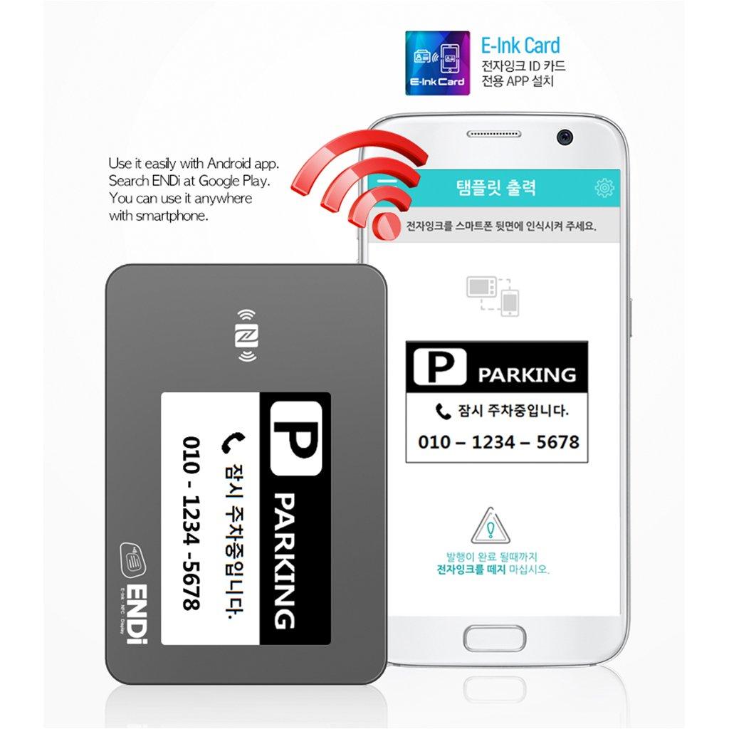 Endi] ID tarjeta combinación E-ink Panel y NFC Tag ...