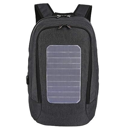 CCDYLQ Mochila Solar computadora Puerto de Carga USB Externo, Multi-función de Gran Capacidad
