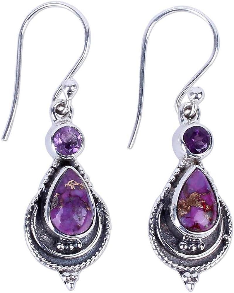 Yivise Para Mujer Joyería Clásica Retro Piedra de la Luna Piedra Preciosa Cuelga Gancho Ear Ear Earring Regalos Creativos