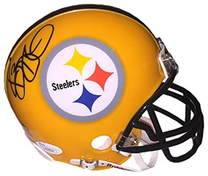 e3415976afb Jerome Bettis Signed Autograph Pittsburgh Steelers TB Yellow Riddell Mini  Helmet- JSA Authentic