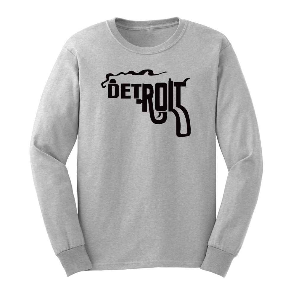 Loo Show S Detroit Smoking Gun Graphic Adult T Shirts Casual Tee