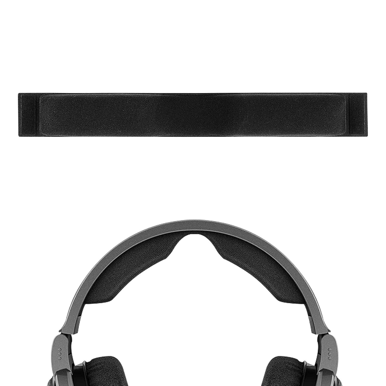 Geekria Mesh Fabric Headband Pad Compatible with Sennheiser HD650, HD660 S, HD6XX Headphone Replacement Headband/Headband Cushion/Replacement Pad Repair Parts (Black).