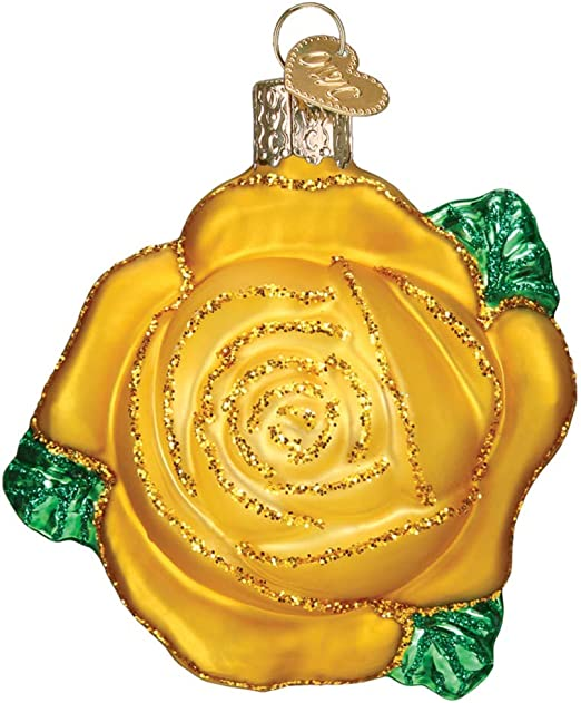 Ornaments Yellow Rose Old World Christmas Hanging Tree Ornament Home Kitchen Belasidevelopers Co Ke