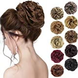 MORICA 1PCS Messy Hair Bun Hair Scrunchies Extension Curly Wavy Messy Synthetic Chignon for Women Updo Hairpiece(Color:12#)