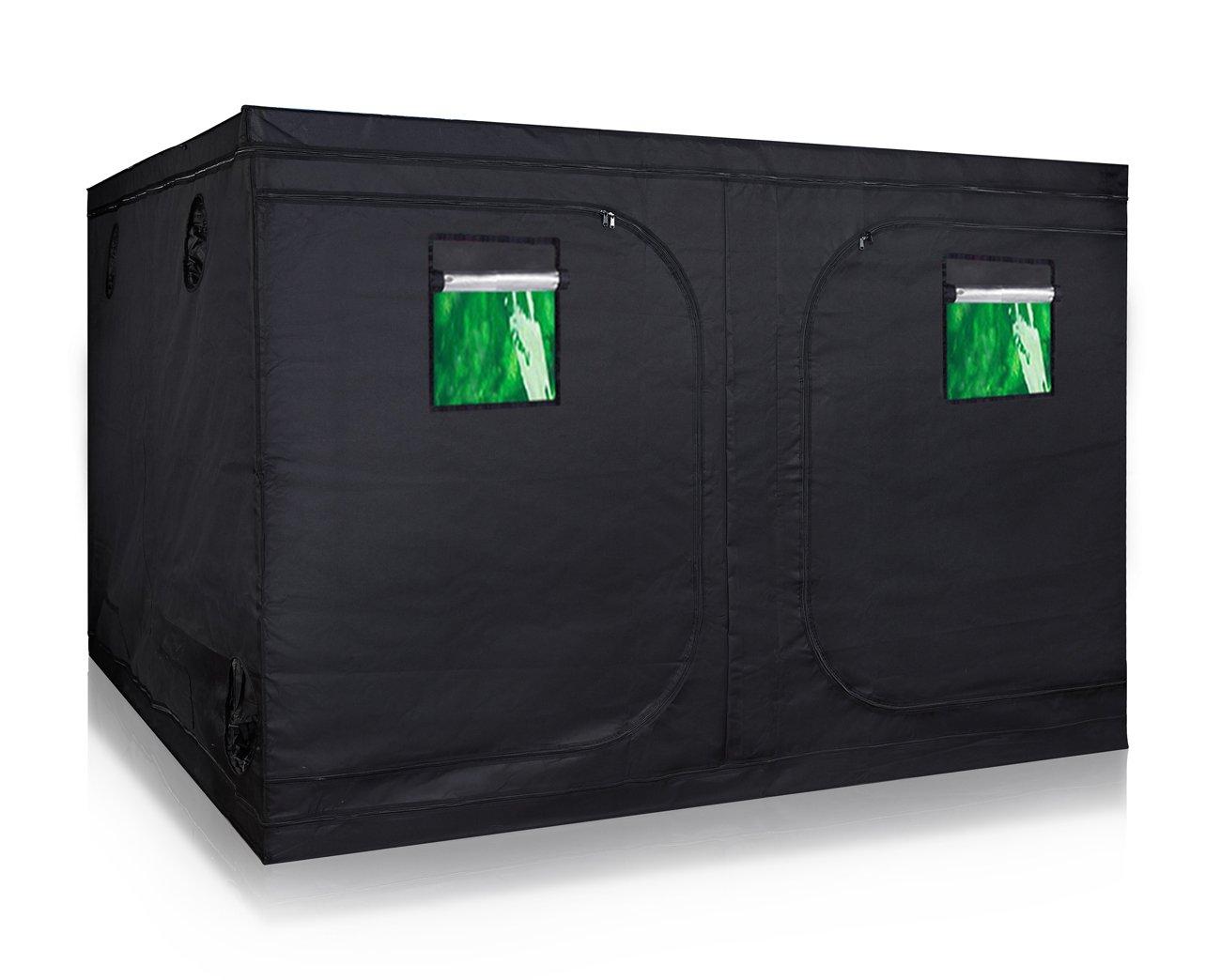 TopoLite 120''x120''x80'' Indoor Grow Tent Hydroponic Growing Dark Room Green Box with Viewing Window