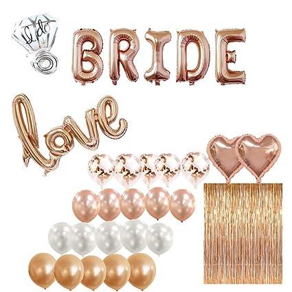 Amazon.com: Kit de decoración de fiesta de la ducha de novia ...