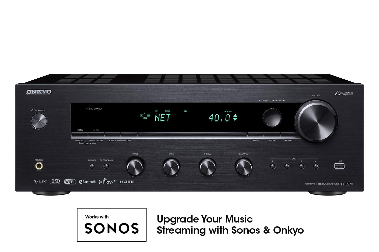 Onkyo TX-8270 2 Channel Network Stereo Receiver with 4k HDMI
