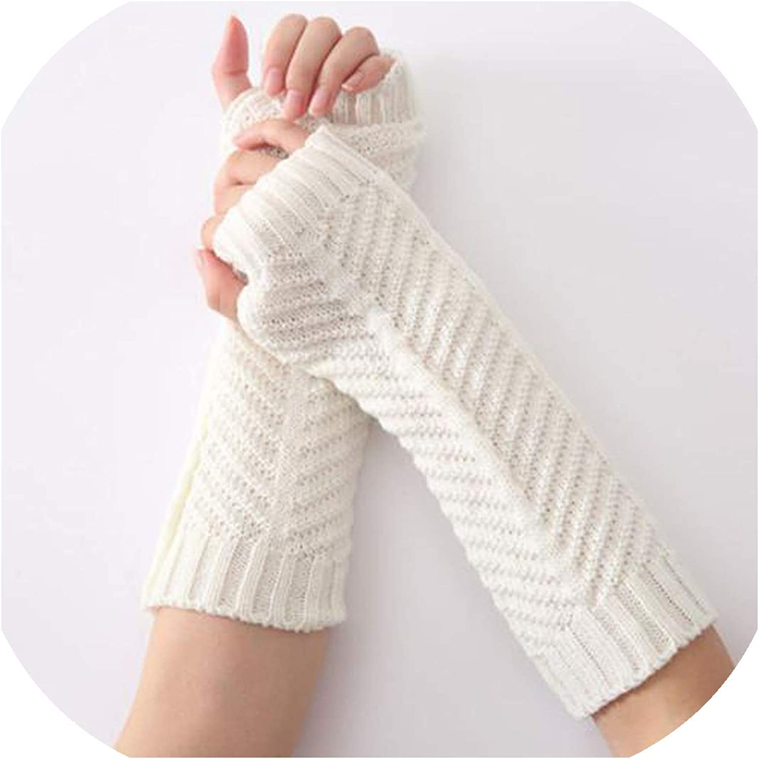 Solid Arm Sleeve Woman The...