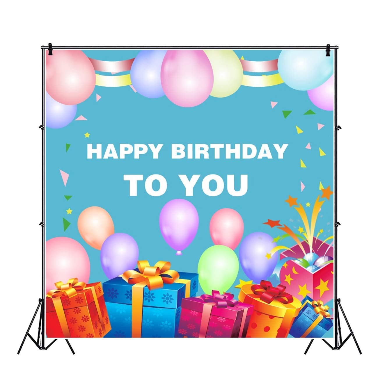 Buy Baocicco 6 5x6 5ft Happy Birthday To You Backdrop Colorful Balloons Ribbon Birthday Gift Box Photography Background Surprise Party Birthday Party Girls Boys Photo Video Shoot Prop Online At Low Price In India