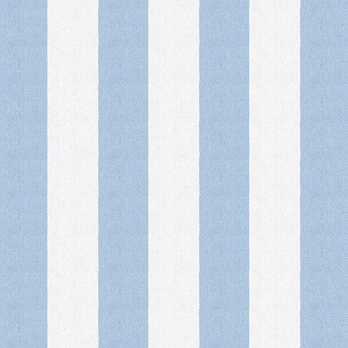 Blue Striped Fabric - Carousel Designs Blue Giddy Stripe Fabric by The Yard - Organic 100% Cotton