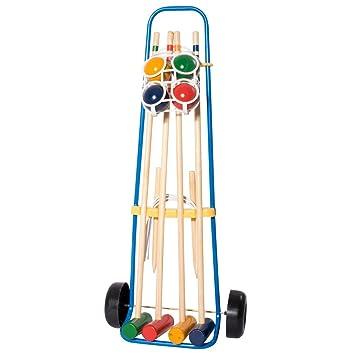 Hudora 78100 - Juego de Croquet (4 Jugadores)
