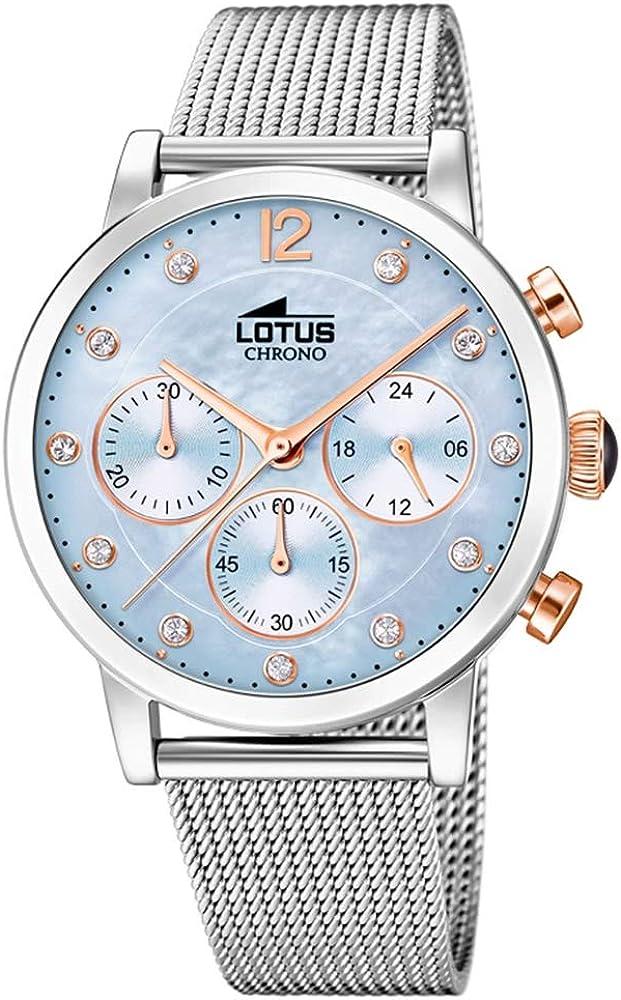 Lotus Reloj Cronógrafo para Mujer de Cuarzo con Correa en Acero Inoxidable 18676/3