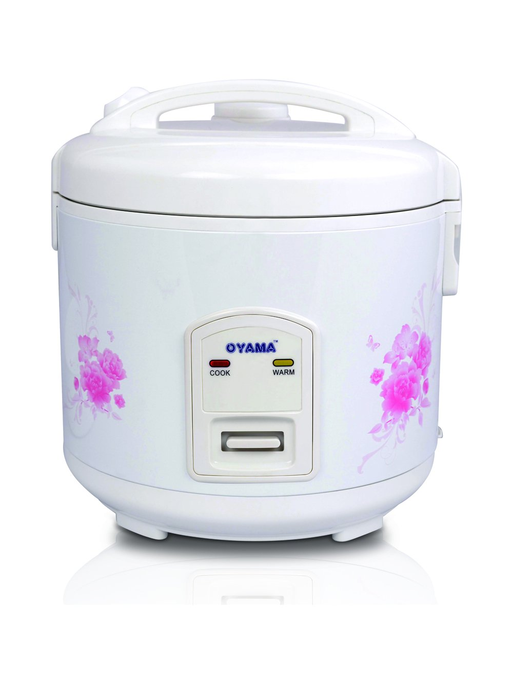 Oyama 8-cup (uncooked) Rice Cooker-Steamer-Warmer in White with Floral design (Eight cup) CNP-A15U
