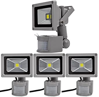 4pcs 10W Foco LED con Sensor Movimiento,ALPHA DIMA Foco Proyector ...