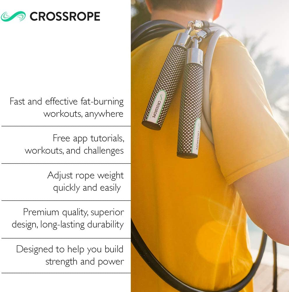 Improve Power and Endurance in a Fun Jump Rope Workout Crossrope Jump Rope Get Strong Set Weighted Jump Ropes for Strength Training