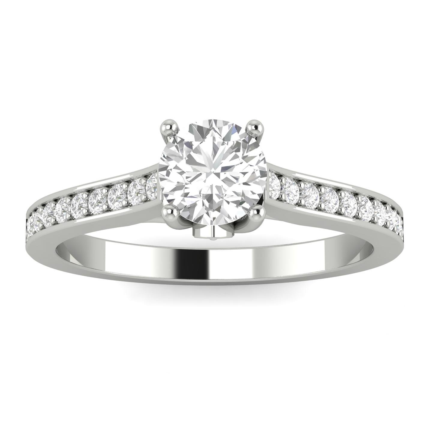 1/2ctw Diamond Engagement Ring in 10k White Gold by Sk Jewel,Inc