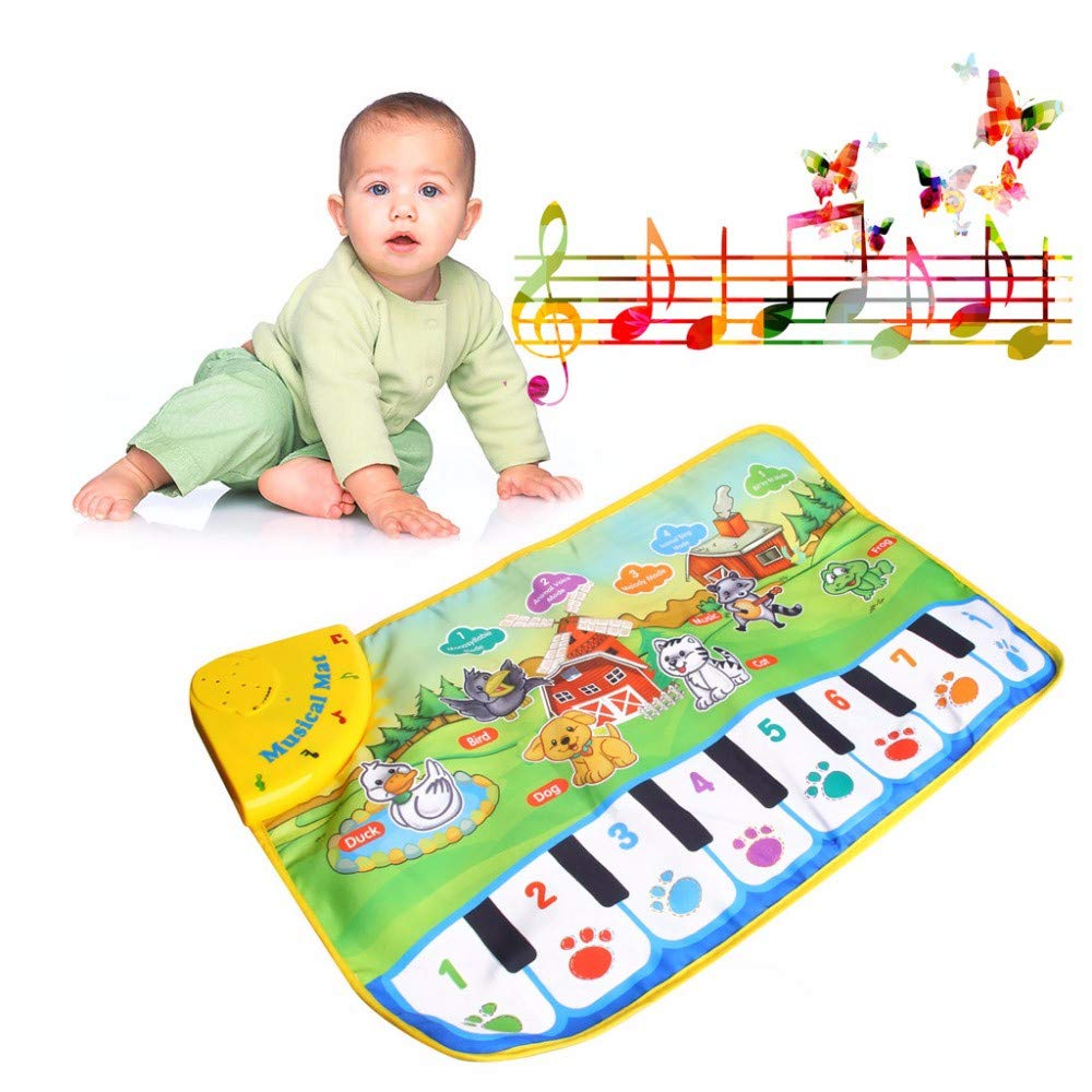 TechCode Children's Upgrade Piano Playmat, Kids Piano Keyboard Music Playmat Toy, Funny Dancing Mat for Babies Toddler Boys and Girls Birthday Christmas Festival Gift by TechCode (Image #6)