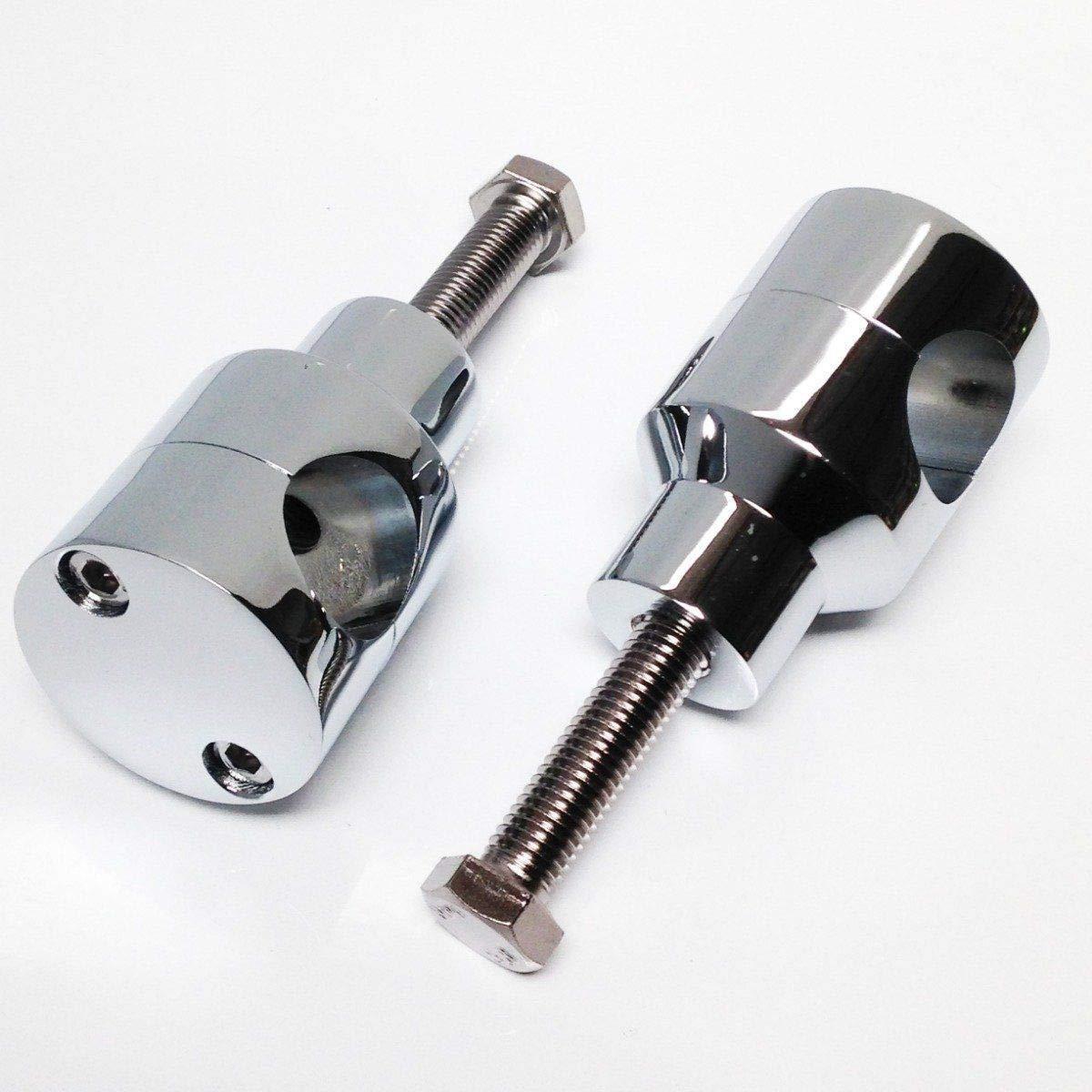 per Accessori Auto BEESCLOVER 7//8 22 mm 1 25 mm Manubrio Riser per Custom Springer Bobber Chopper Nero 25 mm