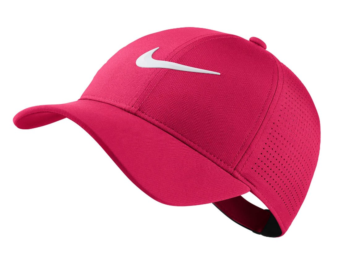 NIKE 2018 Aerobill Legacy 91 Perforated Women's Adjustable Cap Hat, Rush Pink