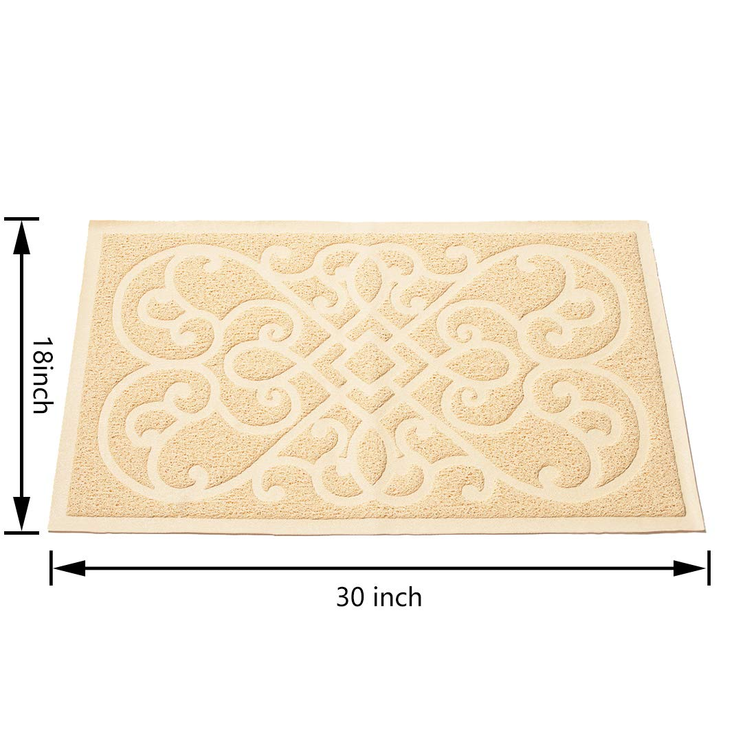 30 x18 inches PetLike Durable Cat Litter Trapping/Mat Scatter Control Traps Litter from Box and Cats Soft on Kitty Paws